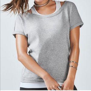 Fabletics Tasha Short Sleeve 2-in-1 Sweatshirt